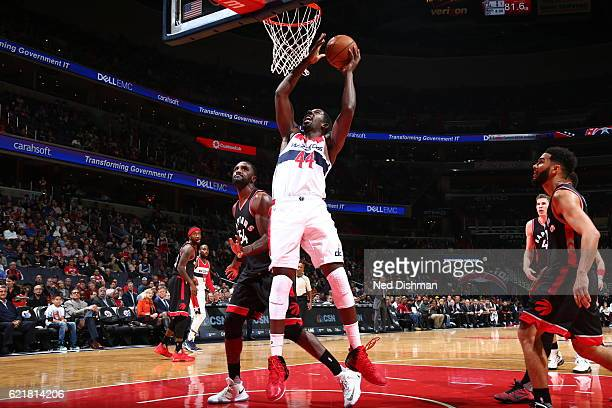 Andrew Nicholson of the Washington Wizards goes to the basket against the Toronto Raptors on November 2 2016 at Verizon Center in Washington DC NOTE...