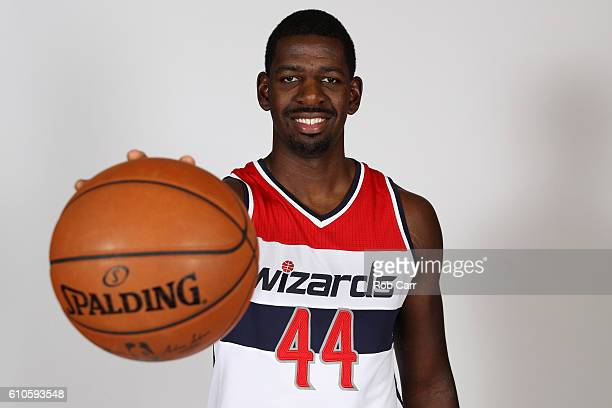 Andrew Nicholson of the Washington Wizards poses during media day at Verizon Center on September 26 2016 in Washington DC NOTE TO USER User expressly...