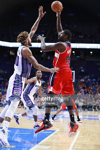 Andrew Nicholson of the Washington Wizards shoots the ball against the Sacramento Kings on October 15 2016 at Rupp Arena in Lexington Kentucky NOTE...