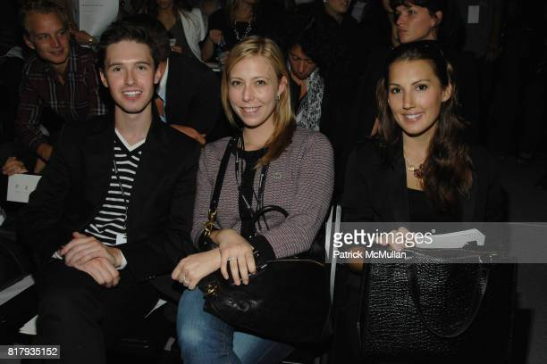 Andrew Nodell Amy Oselkin and Nicole Wegman attend PRABAL GURUNG Spring 2011 Fashion Show at The Studio at Lincoln Center on September 11 2010 in New...