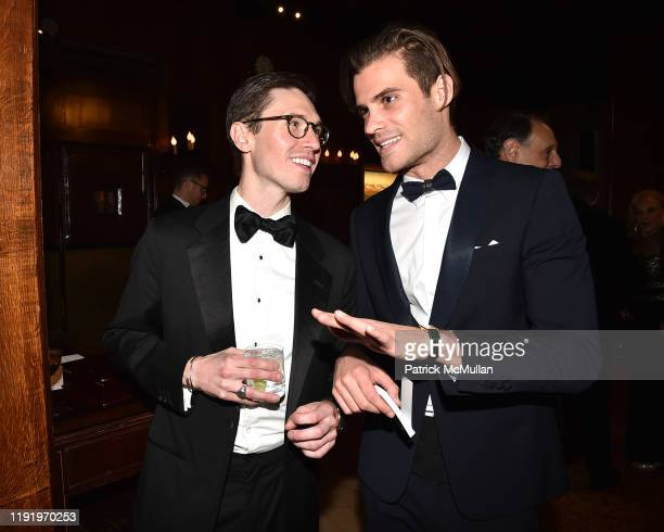 Andrew Nodell and Christophe Caron attend French Heritage Society's New York Gala The Black White Ball at Private Club on November 21 2019 in New...