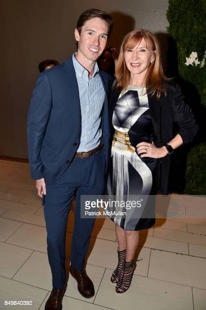 Andrew Nodell and Nicole Miller attend Audrey Gruss Marc Metrick Host hope Fragrance Luncheon at Cafe SFA Saks Fifth Avenue on September 19 2017 in...
