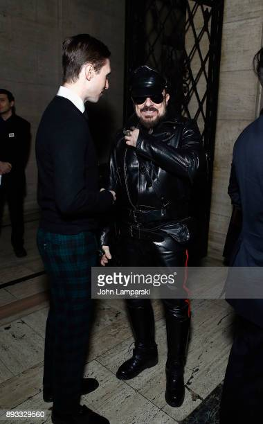 Andrew Nodell and Peter Marino attend ACRIA's 22nd annual holiday dinner at Cipriani 25 Broadway on December 14 2017 in New York City