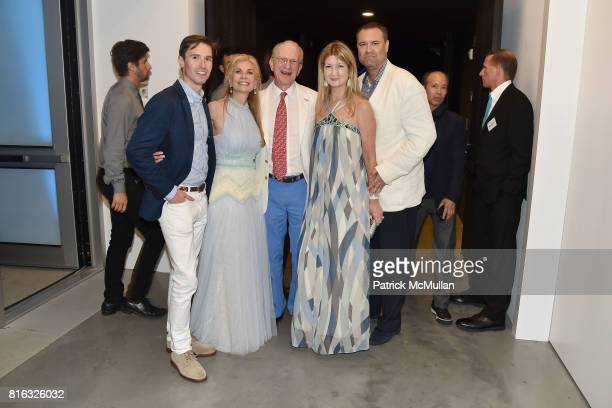 Andrew Nodell Laura Lofaro Freeman Jim Freeman Kathy Reilly and Kevin Scherer attend the Midsummer Party 2017 at Parrish Art Museum on July 15 2017...