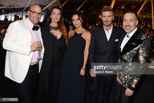 Andrew Nugent Brooke Shields Victoria Beckham David Beckham and David Furnish attend The Fashion Awards 2018 in partnership with Swarovski at the...