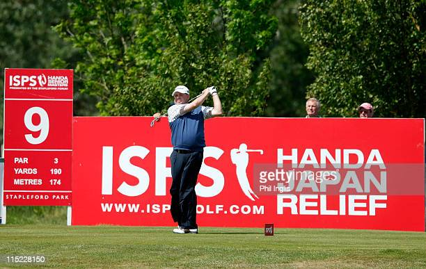 Andrew Oldcorn of Scotland in action during the second round of the Handa Senior Masters presented by the Stapleford Forum played at Stapleford Park...
