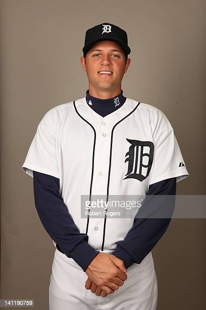 Andrew Oliver of the Detroit Tigers poses during Photo Day on Tuesday February 28 2012 at Joker Marchant Stadium in Lakeland Florida
