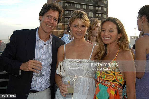 Andrew Oshrin Alison Aston and Michelle Smith attend Michelle Smith for Milly Swimwear Resort Collection Launch at Time Warner Residences Terrace on...