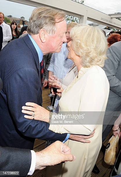 Andrew Parker Bowles and Camilla Duchess of Cornwall attend as Tom Parker Bowles launches his new cookbook 'Let's Eat Recipes From My Kitchen...