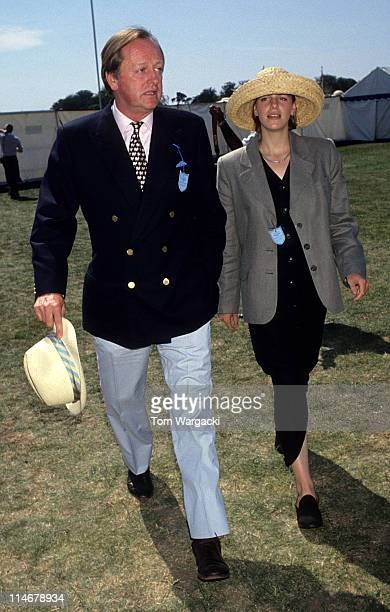 Andrew Parker Bowles and daughter at Cartier Polo during Andrew Parker Bowles and Daughter at Cartier Polo July 23 1995 in Windsor United Kingdom