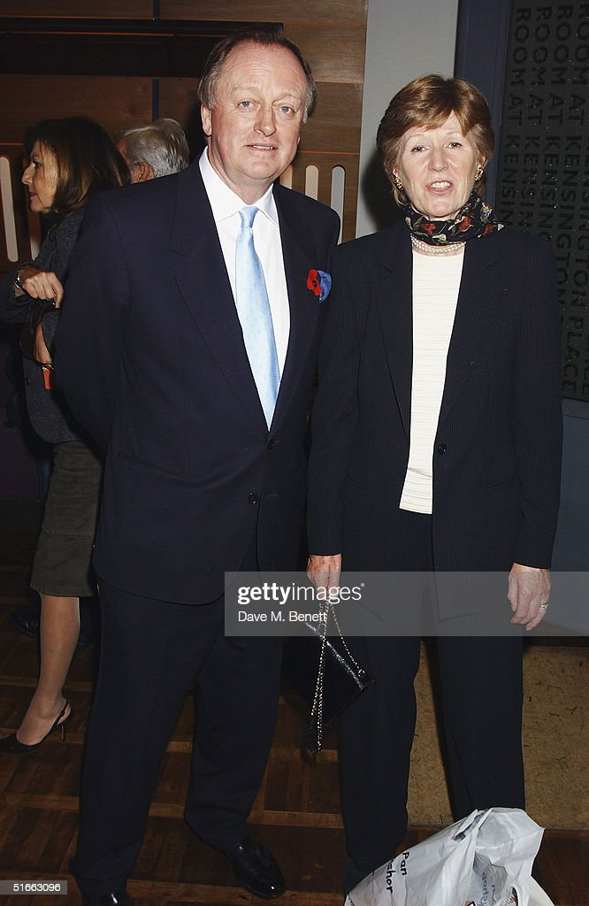 Andrew Parker Bowles and guest attend the party celebrating the launch of Tom Parker-Bowles new book ' E Is For Eating' at Kensington Place on November 3, 2004 in London. Subtitled 'An Alphabet Of Greed', book focuses on unusual subjects including 'c is for cannibalism' and 'i is for insects'.