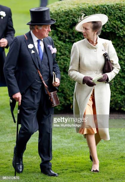Andrew Parker Bowles and Princess Anne Princess Royal attend day 1 of Royal Ascot at Ascot Racecourse on June 19 2018 in Ascot England