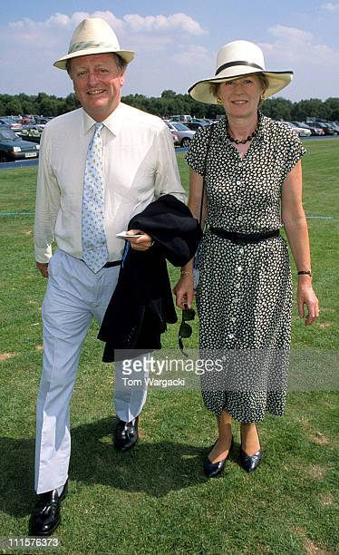 Andrew Parker Bowles and wife during Andrew Parker Bowles at Cartier Polo July 25 1999 at Cartier Polo Field in Windsor United Kingdom