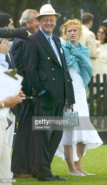 Andrew Parker Bowles at the Cartier polo in Windsor Great park Berkshire England on July 27 2003