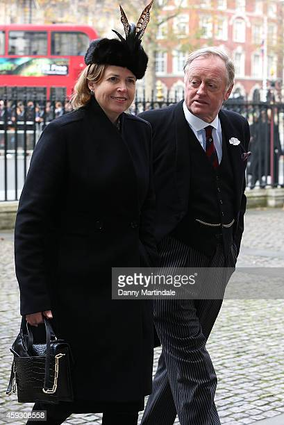 Andrew Parker Bowles attends a service of thanksgiving for Lady Soames at Westminster Abbey on November 20 2014 in London England