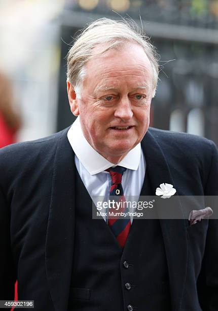 Andrew Parker Bowles attends a service of thanksgiving for Lady Mary Soames at Westminster Abbey on November 20 2014 in London England Lady Mary...