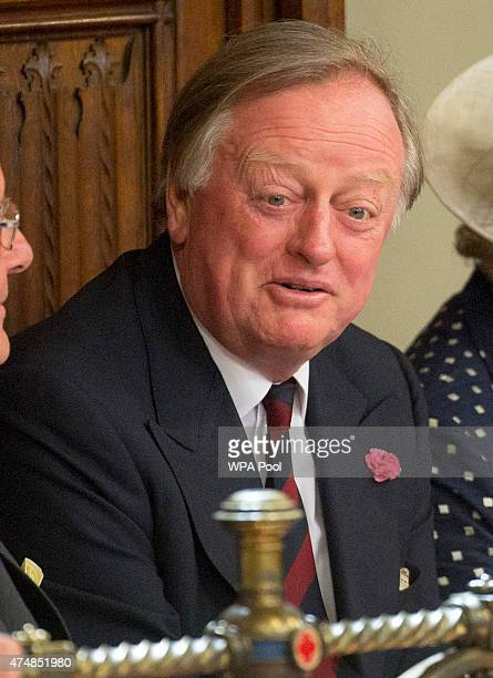 Andrew Parker Bowles attends the State Opening of Parliament in the House of Lords at the Palace of Westminster on May 27 2015 in London England