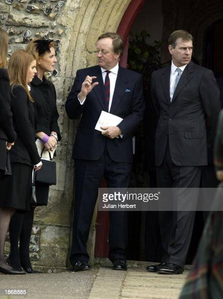 Andrew Parker Bowles Speaks To The Duchess Of York, Her