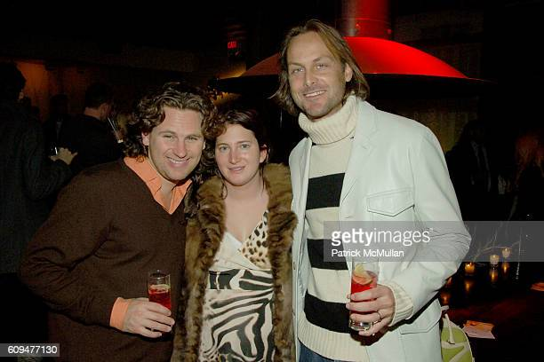 Andrew Parker Joselyn Wohl and Andrew Brunger attend ASPEN Party Hosted by PINK VODKA at Aspen on January 24 2007 in New York City