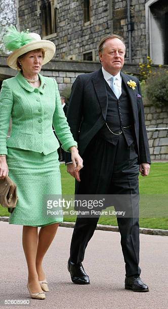 Andrew ParkerBowles and his second wife Rosemary attend the Service of Prayer and Dedication blessing the marriage of TRH the Prince of Wales and The...