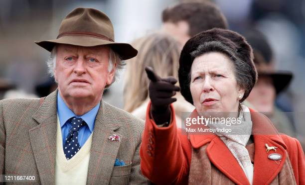 Andrew ParkerBowles and Princess Anne Princess Royal attend day 1 'Champion Day' of the Cheltenham Festival 2020 at Cheltenham Racecourse on March 10...