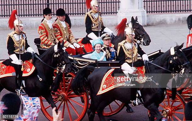 Andrew Parkerbowles As One Of The Sovereign's Escort Accompanying The Queen For The Wedding Of The Prince And Princess Of Waleshe Is Mounted Officer...