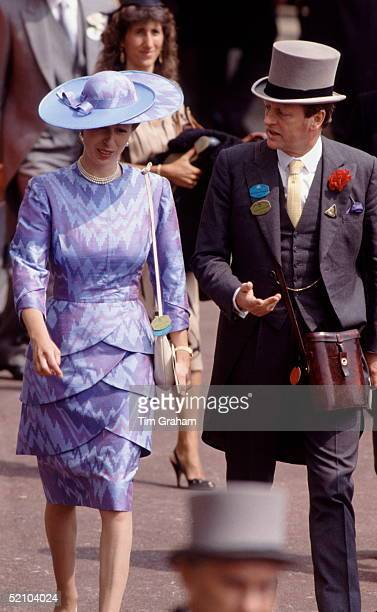 Andrew Parkerbowles Chatting With Princess Anne As They Stroll Through The Crowds At Royal Ascot