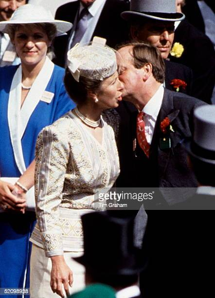 Andrew Parkerbowles Kissing Princess Anne When They Meet At Royal Ascot