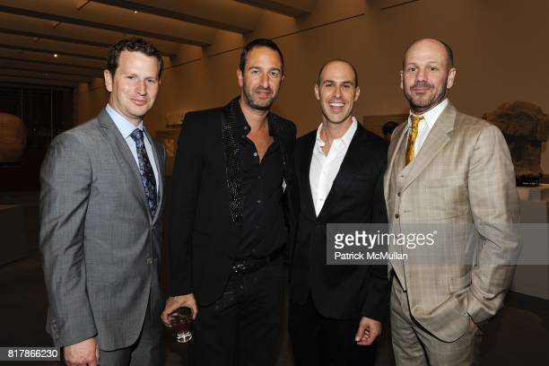 Andrew Parler Christos Garkinos Brett Greenstein and Jared Cairns attend LACMA Resnick Gala AvantGarde After Party at Los Angeles County Museum of...