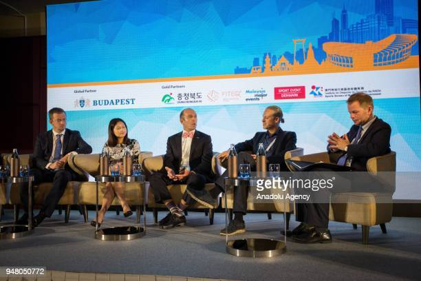 Andrew Parsons President of International Paralympic Committee Sheila Rasu VicePresident Marketing Communications at National Basketball Association...