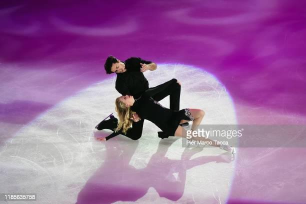 Andrew Poje and Kaitlyn Weaver of Canada in action during the Golden Skate Award on November 30, 2019 in Milan, Italy.