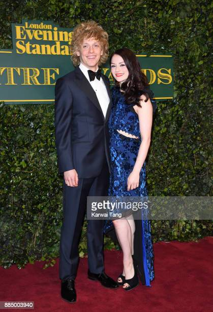 Andrew Polec and Christina Bennington attend the London Evening Standard Theatre Awards at Theatre Royal on December 3 2017 in London England