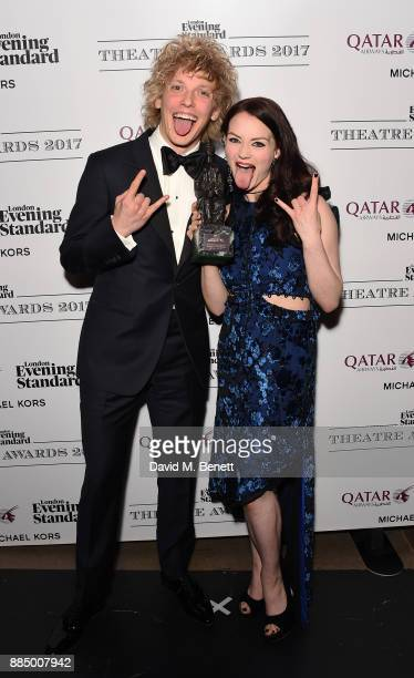 Andrew Polec and Christina Bennington pose at the London Evening Standard Theatre Awards 2017 at the Theatre Royal Drury Lane on December 3 2017 in...