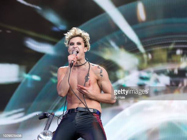 Andrew Polec of Bat out of Hell The Musical performs during BBC Proms in the Park at Hyde Park on September 8 2018 in London England
