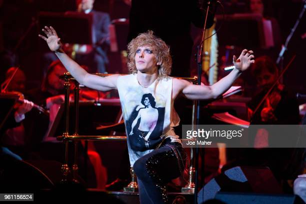 Andrew Polec sings 'Bat out of hell' at 'Magic At The Musicals' concert held at Royal Albert Hall on May 21 2018 in London England