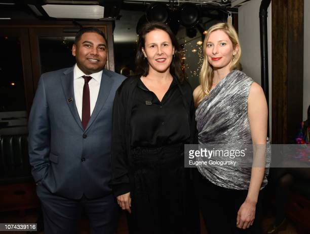 Andrew Prasad Fryda Lidor and Carrie Weidner attend as DuJour cover star Felicity Jones celebrates their winter issue with CEO and Founder Jason Binn...