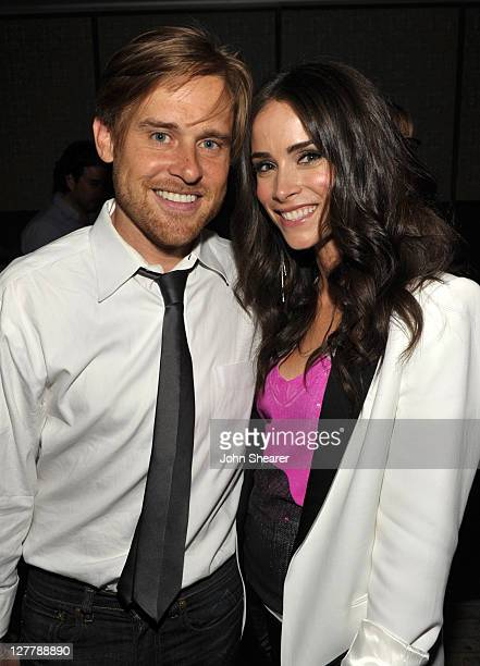Andrew Pruett and Abigail Spencer attend the Uganda Project Fund Raiser Presented By Make Believe at Soho House on May 13 2011 in West Hollywood...