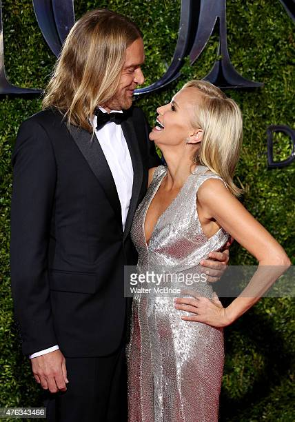 Andrew Pruett and Kristin Chenoweth attend the 2015 Tony Awards at Radio City Music Hall on June 7 2015 in New York City