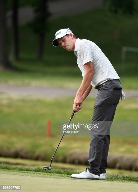 Andrew Putnam hits a putt on the seventh hole during the first round of the Webcom Tour RustOleum Championship at Ivanhoe Club on June 8 2017 in...