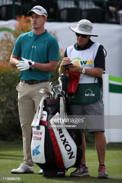 Andrew Putnam looks on from the 16th tee during the first round of the Waste Management Phoenix Open at TPC Scottsdale on January 31 2019 in...