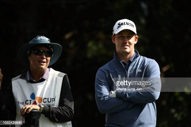 Andrew Putnam of the United States on the 7th hole during the first round of the CJ Cup at the Nine Bridges on October 18 2018 in Jeju South Korea