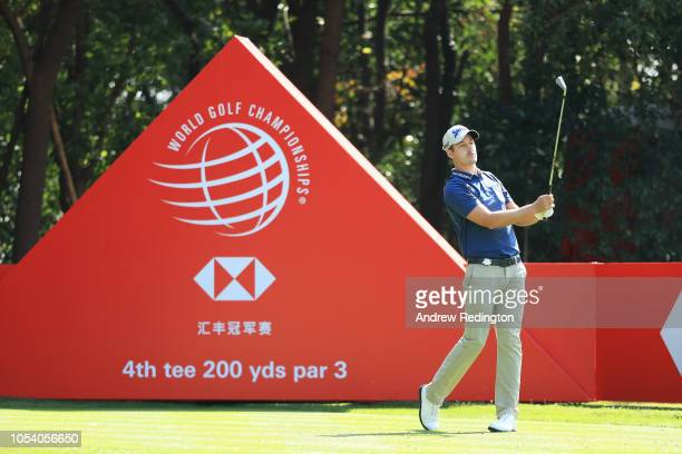 Andrew Putnam of the United States plays his shot from the fourth tee during the third round of the WGC HSBC Champions at Sheshan International Golf...