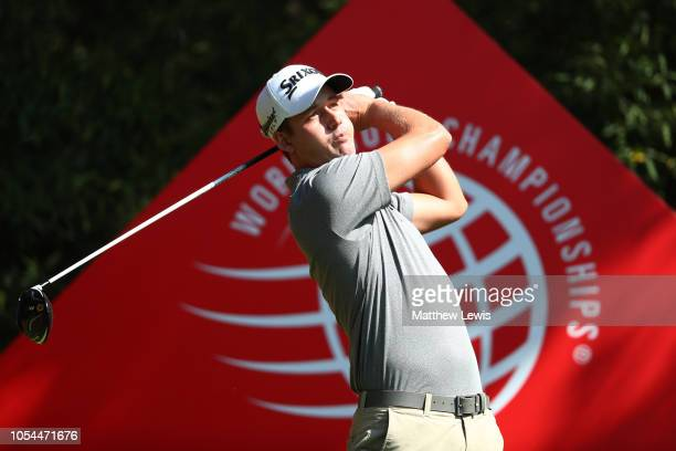 Andrew Putnam of the United States plays his shot from the second tee during the final round of the WGC HSBC Champions at Sheshan International Golf...
