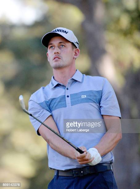 Andrew Putnam plays his shot from the 15th tee during the final round of the Safeway Open at the North Course of the Silverado Resort and Spa on...