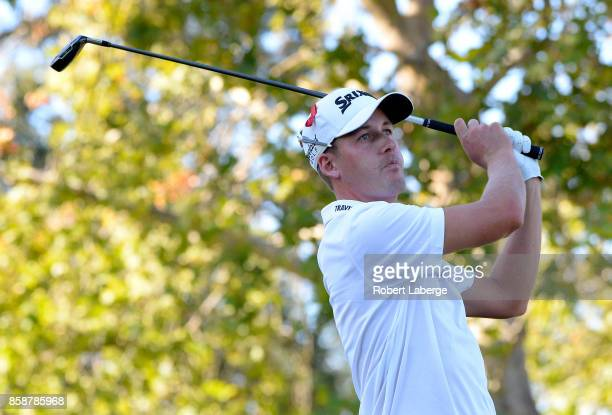 Andrew Putnam plays his shot from the 17th teeduring the third round of the Safeway Open at the North Course of the Silverado Resort and Spa on...