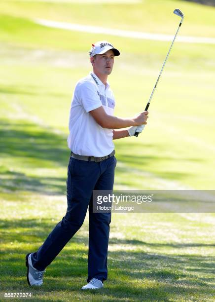 Andrew Putnam plays his shot on the third hole during the third round of the Safeway Open at the North Course of the Silverado Resort and Spa on...