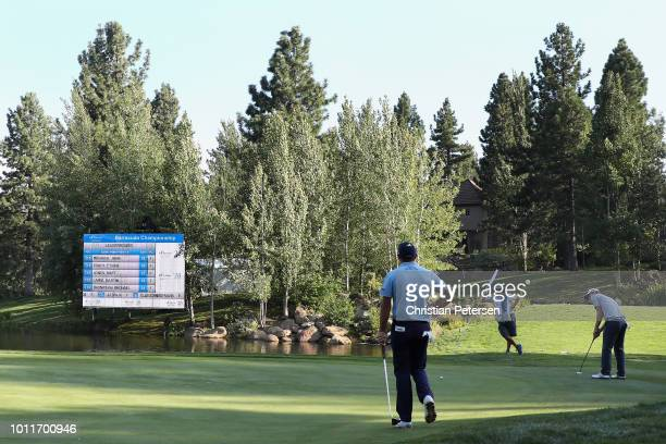 Andrew Putnam putts on the 18th green during the final round of the Barracuda Championship at Montreux Country Club on August 5 2018 in Reno Nevada