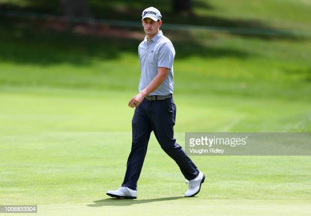 Andrew Putnam walks on the fifth hole during the third round at the RBC Canadian Open at Glen Abbey Golf Club on July 28 2018 in Oakville Canada