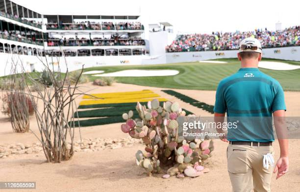 Andrew Putnam walks to the 16th green during the first round of the Waste Management Phoenix Open at TPC Scottsdale on January 31 2019 in Scottsdale...
