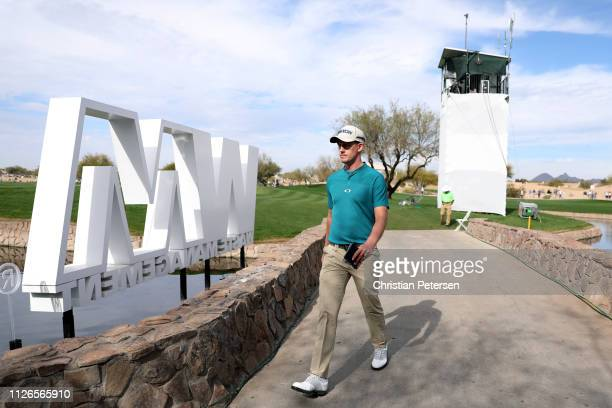 Andrew Putnam walks to the 16th tee during the first round of the Waste Management Phoenix Open at TPC Scottsdale on January 31 2019 in Scottsdale...